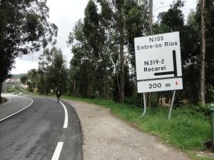 A poucos metros de sairmos da N108 e entrarmos na N319-2