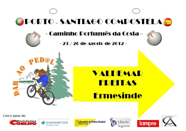 Caminho de Santiago 2012 - Dorsal para as bikes